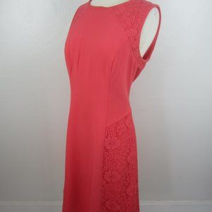 Adrianna Papell Coral Lace Panel Dress 8